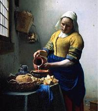 "Vermeer's ""The Milkmaid"" is on loan to the Metropolitan Museum of Art."