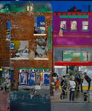 Detail from Romare Bearden's The Block