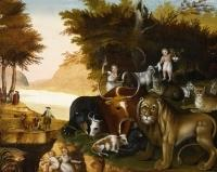 Hicks, Peaceable Kingdom.  Mercer Museum.