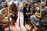 "Lily Furedi, ""Subway"", 1934.  Oil on canvas.  Smithsonian American Art Museum.  Transfer from the U.S.  Department of the Interior, National Park Service."