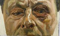 Detail of the Lucian Freud self-portrait