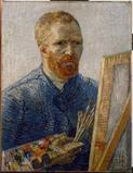 Self portrait as an artist,1888.  Oil on canvas.  65.5x50.5cm.  Van Gogh Museum, Amsterdam