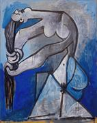 """Nude Wringing Her Hair"" by Pablo Picasso, 1952.  Private Colleciton."