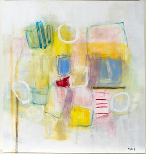 """Janet Mait, """"Marigold,"""" acrylic on canvas, 2014, 50 x 48"""