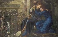 """Love among the Ruins"" by Pre-Raphaelite painter Edward Burne-Jones sold for a record 14.8 million pounds ($22.3 million) at Christie's in London."