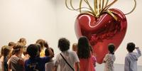 Jeff Koons work on view at Grimaldi Forum in Monaco.