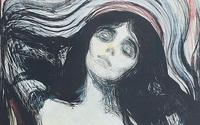 Detail of Edvard Munch's Madonna.