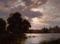 "David Johnson Am.  1827–1908 New Rochelle Oil on board 14"" × 18"" (35.6 cm × 45.7 cm) $9,000/12,000"