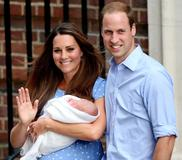 The Duke and Duchess of Cambridge with their newborn son, George Alexander Louis.