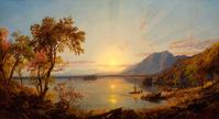 Jasper Francis Cropsey (1823–1900), Sunset, Lake George, New York, 1867.  Oil on canvas, 24 1/4 x 44 in.  (61.6 x 111.8 cm).  New-York Historical Society, The Robert L.  Stuart Collection, S-126