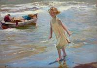 Joaquin Sorolla y Bastida (Spanish, 1863-1923) Niña en la playa, Valencia, fetched £1,441,250 ($2,186,376) at Christie's London.
