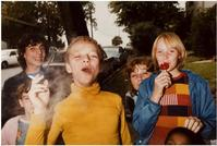 Mark Cohen (b.  1943) Boy in Yellow Shirt Smoking, 1977.  Dye coupler print © Mark Cohen Courtesy the artist and ROSEGALLERY