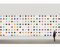 A Damien Hirst spot painting.