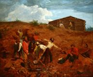John Moran will auction a rare, circa-1854 Gold Rush painting by W.F.  Chadwick on June 15.