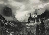 "A record price of $722,000 for Ansel Adams was reached with ""Clearing Winter Storm, Yosemite National Park"" from the Polaroid Collection at Sotheby's."