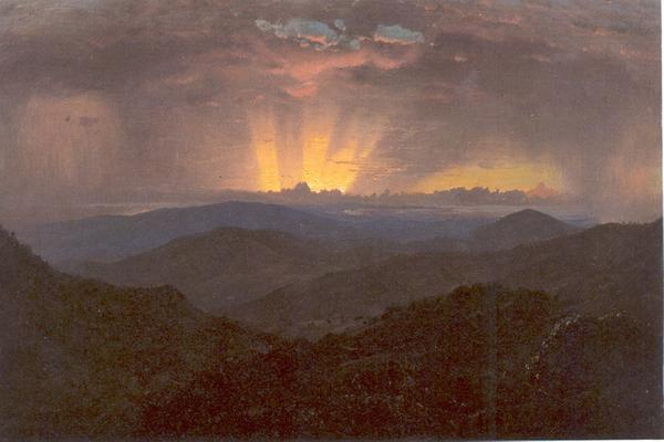 Frederic Church, Sunset, Jamaica, 1865.