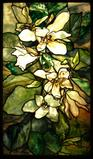 "Tiffany leaded-glass window, ""Magnolias,"" ca.  1900 (Image courtesy the State Hermitage Museum, St.  Petersburg, Russia)"