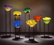 DALE CHIHULY (American, born 1941): Macchia, 1994.  Blown glass, 24 1/4 by diam.  32 inches.  Irregular.  Purchase, acquired through the generosity of Mr.  and Mrs.  Frederick Adler, Mr.  and Mrs.  Rand Araskog, Mrs.  Nanette Ross, Mrs.  Frances Scaife, and Mr.  and Mrs.  Robert Sterling, 98.39 & 98.42-47 © Dale Chihuly