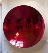 Anish Kapoor Blood Mirror Stainless steel and lacquer 78 in.  diameter 2000