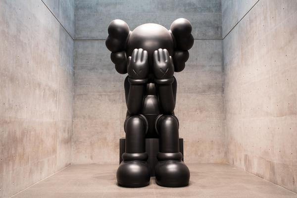 "Kaws, ""Companion (Passing Through)"" at the Modern Art Museum of Fort Worth in ""KAWS WHERE THE END STARTS,"" Oct 20, 2016 - Jan 22, 2017."