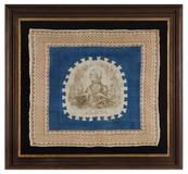 EXTREMELY RARE PORTRAIT STYLE BANDANNA, MADE FOR THE 1848 PRESIDENTIAL CAMPAIGN OF ZACHARY TAYLOR