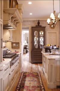 Kitchen with Tribal Runner Rug