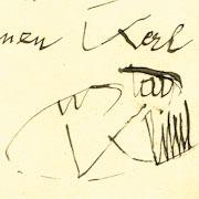 Gustav Klimt Autograph Quotation, 1913