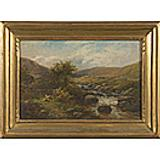 Lot 307: British Pastoral Landscape, Oil on Canvas