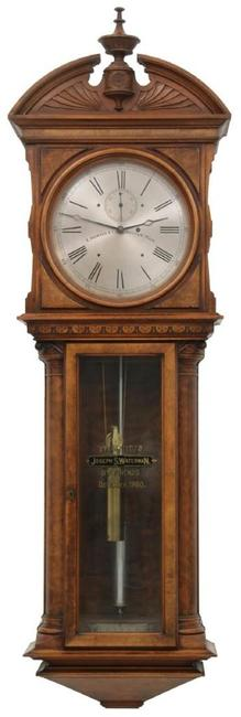 "An expected standout among clocks in the sale is this E.  Howard & Co.  No.  57 wall regulator ($60/80,000) retaining its original 14 inch silvered dial signed ""E.  Howard & Co., Boston, Mass."""