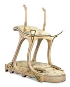 "Edward VII's Siège d'Amour Love Chair.  This chair allowed the notorious playboy to ""entertain"" himself with two women at once."