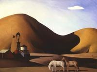 "Millard Sheets' 1935 painting ""California"".  (Pasadena Museum of California Art / June 11, 2007) Photo via LA Times"