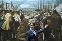 Thomas P.  Campbell on a visit to the Museo del Prado.