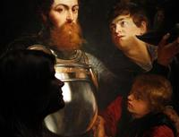 "Detail of the Rubens, ""A Commander being armed for Battle,"" to be offered at Christie's London."