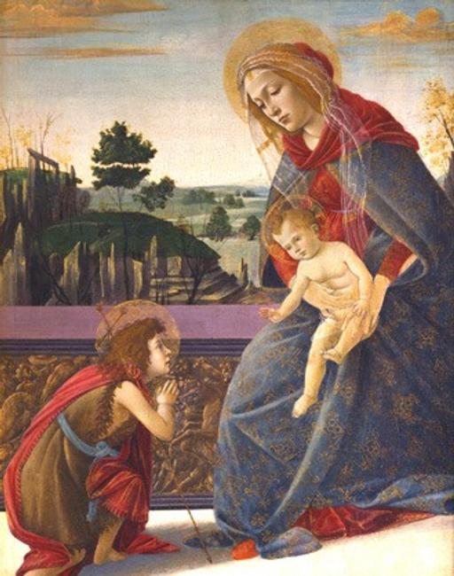 Madonna and Child with the Infant Saint John by Sandro Botticelli