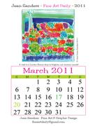 Fine Art Daily, March calendar