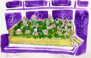 Fine Art Daily, pansies and geraniums