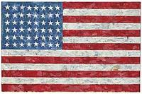 "Christie's sold Jasper Johns' ""Flag,"" a pop art rendition of the American flag created in the 1960s that author Michael Crichton bought from the artist in 1973."