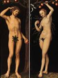 Lucas Cranach the Elder's Adam and Eve at the Norton Simon Museum.