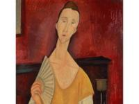 Woman with a Fan by Amadeo Modigliani