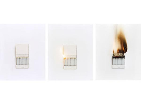 "Cynthia Greig, Representation #16-18 (matchbook), 2003 C-print, Edition of 6 10"" x 8"" (each)"
