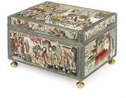 A MAGNIFICENT CHARLES II NEEDLEWORK CASKET, circa 1660-70, estimate: £150,000 - £300,000.  At Christie's June 10-11 sale in London.