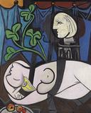 "Picasso's 1932 painting ""Nu au Plateau de Sculpteur (Nude, Green Leaves and Bust)."""