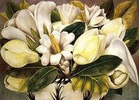 Frida Kahlo.  Magnolias.  1945.  Oil on masonite.  41.2 x 57 cm.  Private collection.