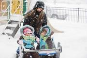 the kids and me in Winter...  can't wait for Spring!