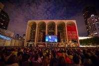 A photo from the Metropolitan Opera's 2012 Summer HD Festival on Lincoln Center Plaza.  The Metropolitan Opera's Summer HD Festival on Lincoln Center Plaza screens ten of the company's award-winning 'Live in HD' productions from August 24 to September 2 as part of the its 2013 festival.
