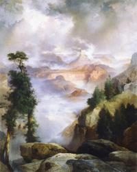 """A Passing Storm"" by Thomas Moran at the Desert Caballeros Western Museum."