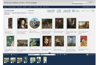 View of a featured collection on the NGA Images website