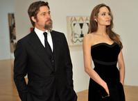 Brad Pitt and Angelina Jolie at the LA MOCA gala.  Via Huffington Post