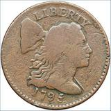 $1.3 million: 1795 reeded-edge U.S. penny. Goldberg Coins.