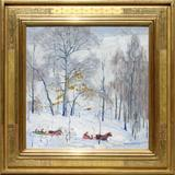 "Carl E.  Lawless (1894-1964) ""Sleigh Ride"" at The Cooley Gallery."